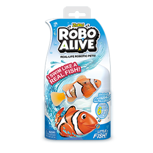 ROBO ALIVE REAL-LIFE FISH_BULK PACK_Clownfish