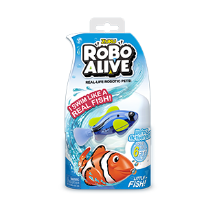 ROBO ALIVE REAL-LIFE FISH_BULK PACK_Blue Tang Fish
